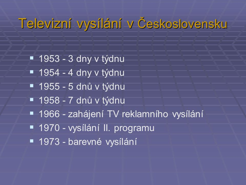 Televizní vysílání v Československu