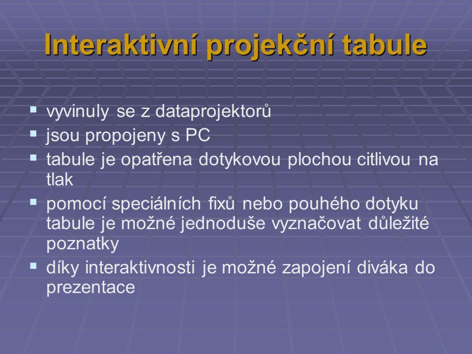 Interaktivní projekční tabule