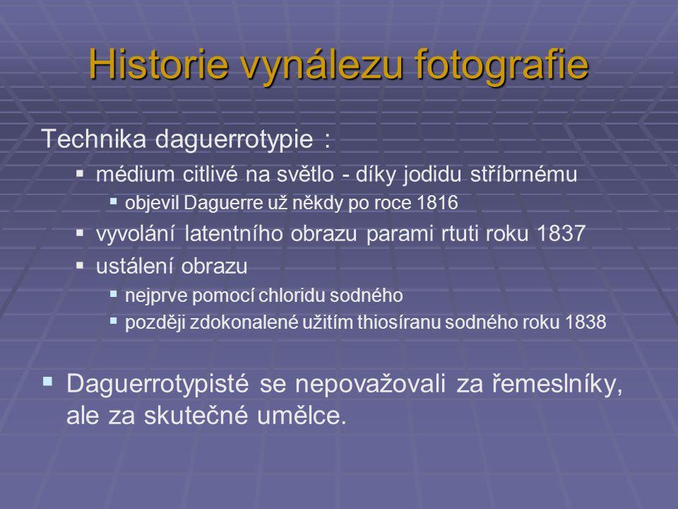 Historie vynálezu fotografie