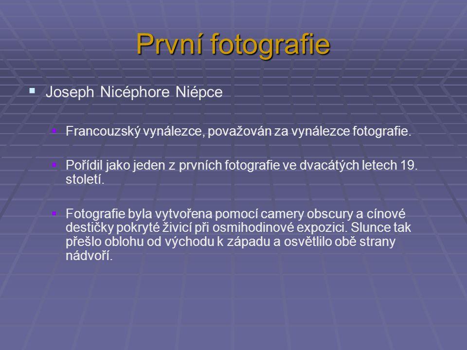 První fotografie Joseph Nicéphore Niépce