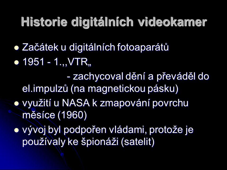 Historie digitálních videokamer