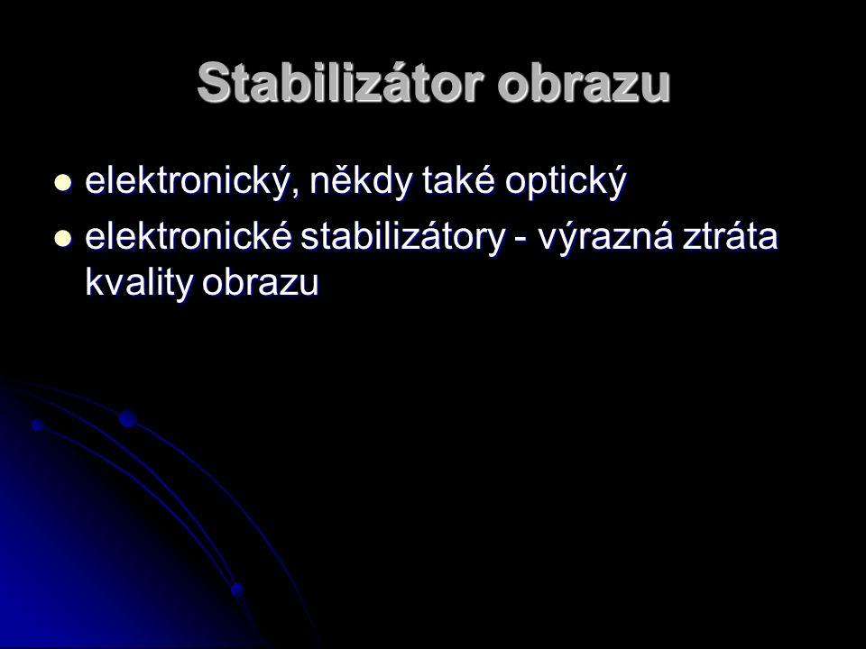 Stabilizátor obrazu elektronický, někdy také optický