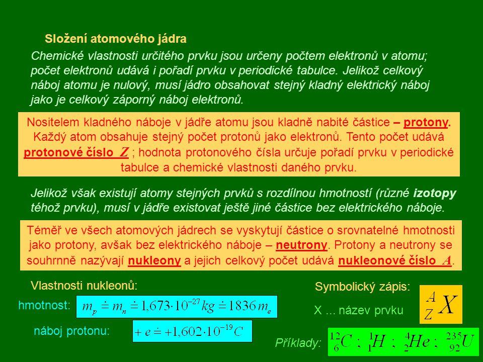 Složení atomového jádra