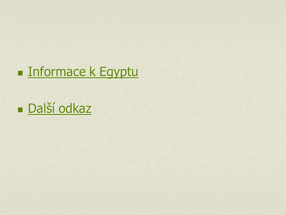 Informace k Egyptu Další odkaz