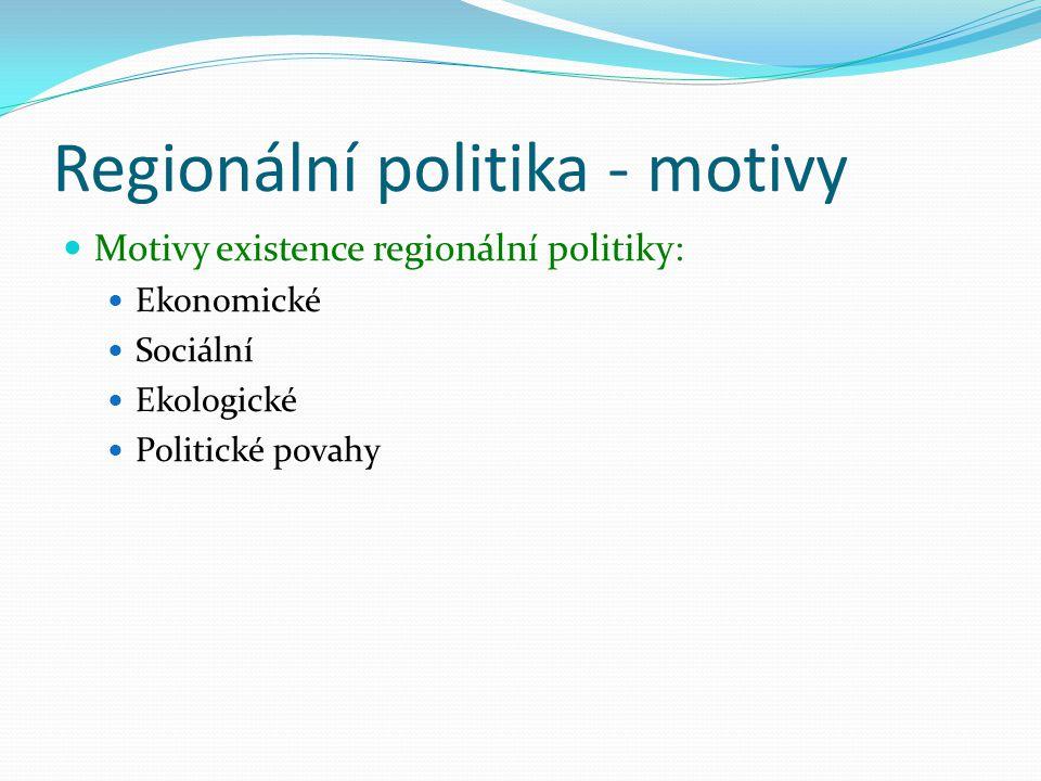 Regionální politika - motivy