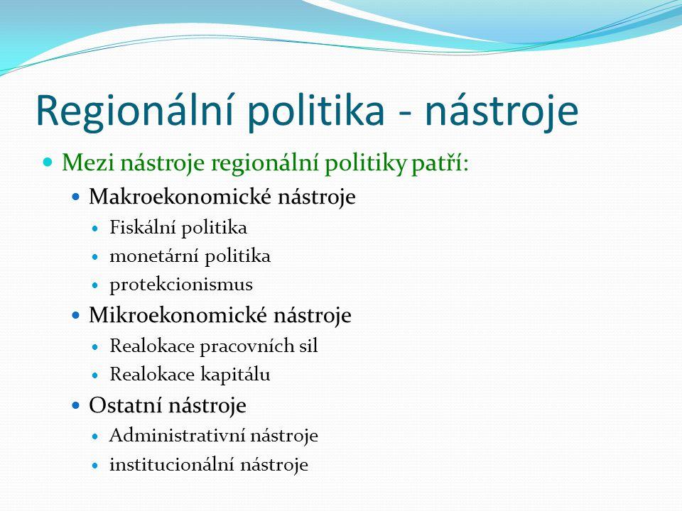Regionální politika - nástroje