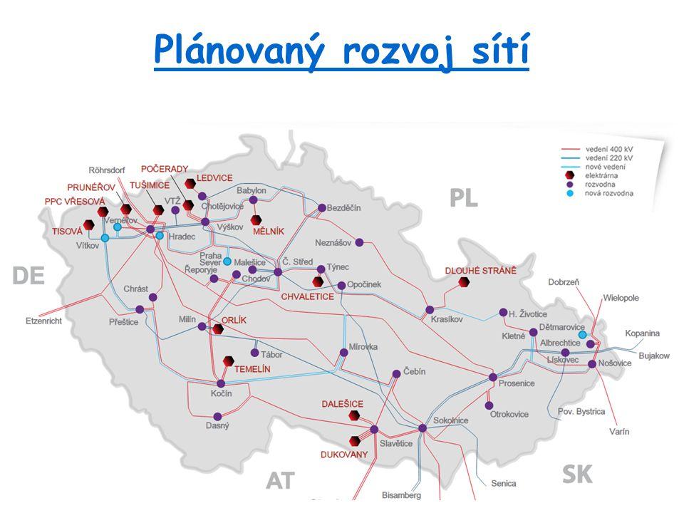 Plánovaný rozvoj sítí