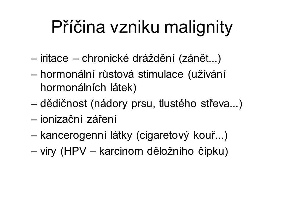 Příčina vzniku malignity