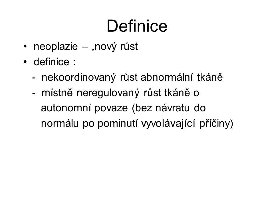 """Definice neoplazie – """"nový růst definice :"""