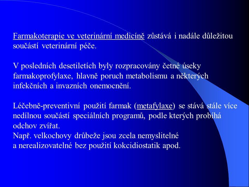 Farmakoterapie ve veterinární medicíně zůstává i nadále důležitou součástí veterinární péče.