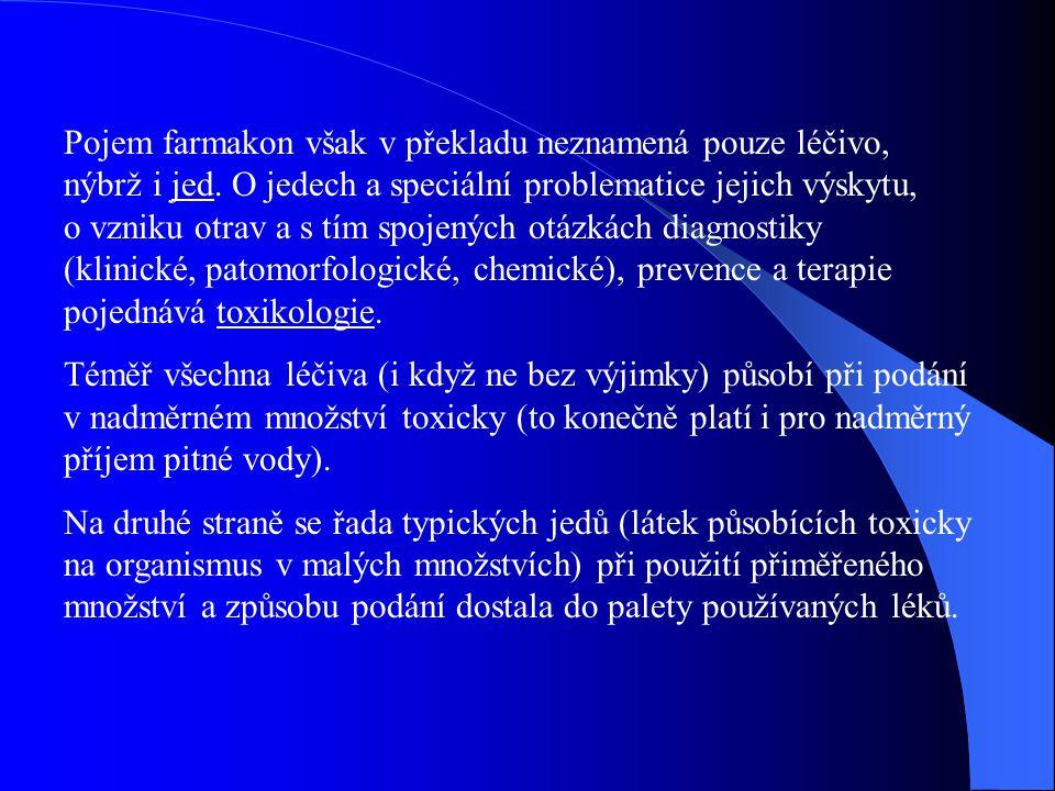 Pojem farmakon však v překladu neznamená pouze léčivo, nýbrž i jed