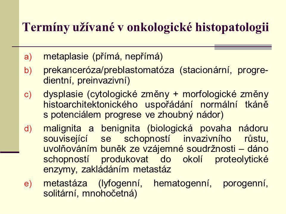 Termíny užívané v onkologické histopatologii