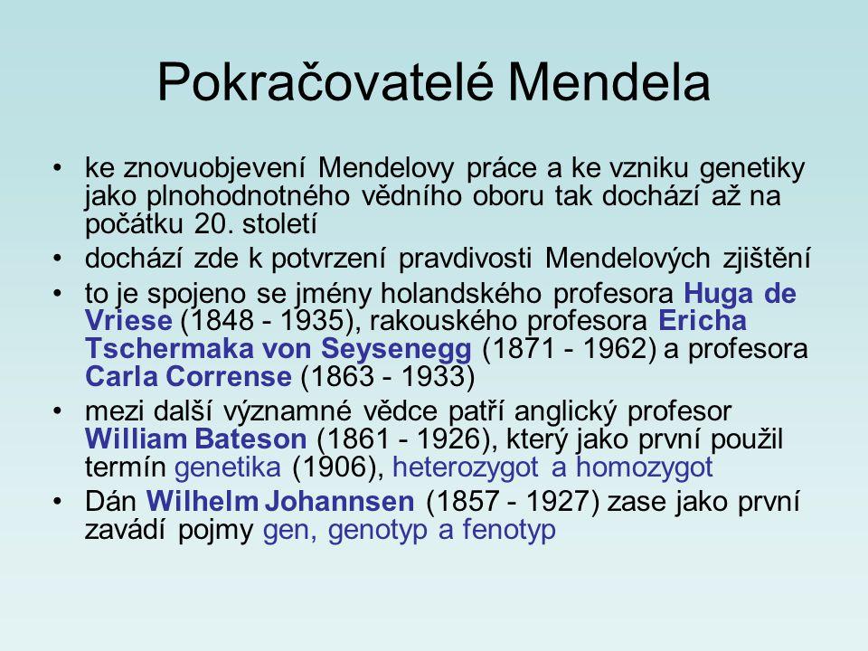 Pokračovatelé Mendela