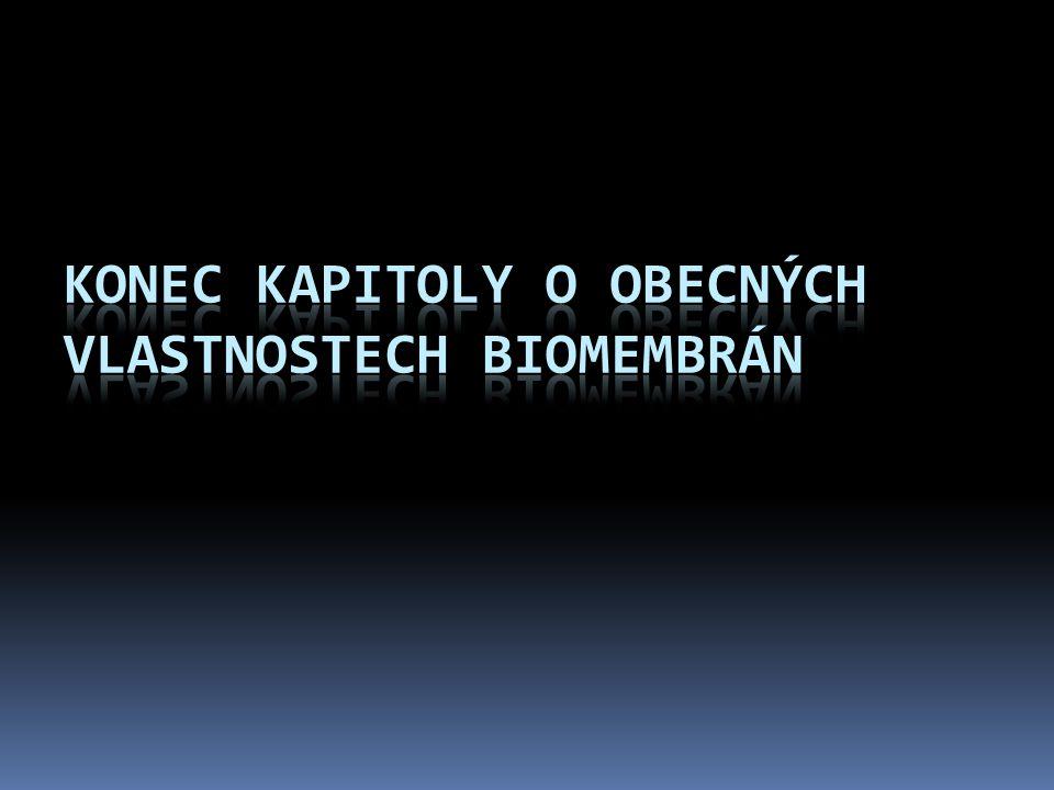 Konec kapitoly o obecných vlastnostech biomembrán