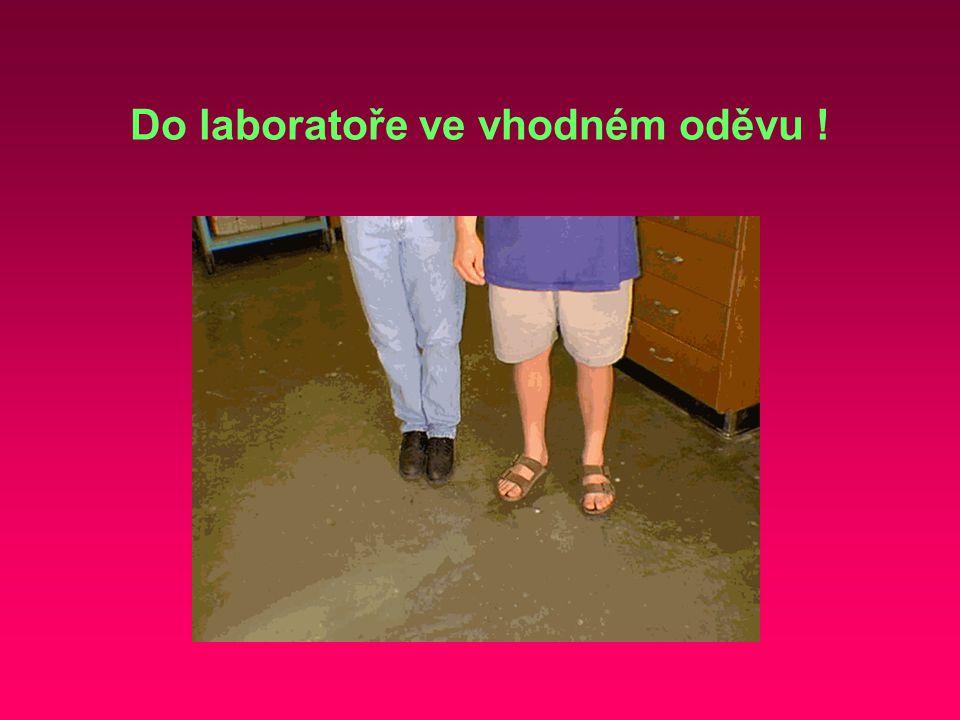 Do laboratoře ve vhodném oděvu !