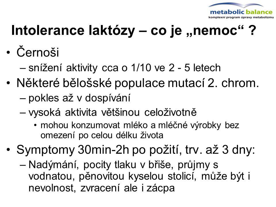 """Intolerance laktózy – co je """"nemoc"""