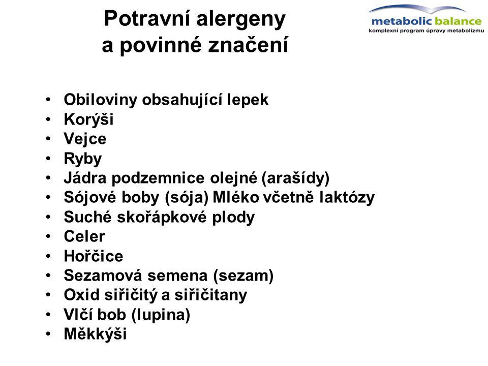 Potravní alergeny a povinné značení