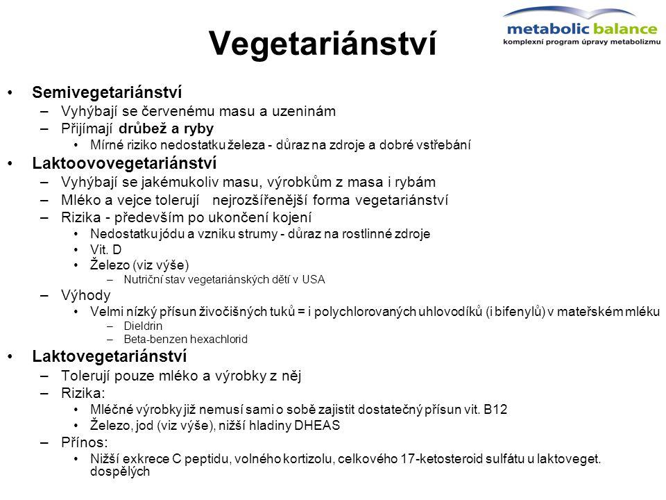 Vegetariánství Semivegetariánství Laktoovovegetariánství