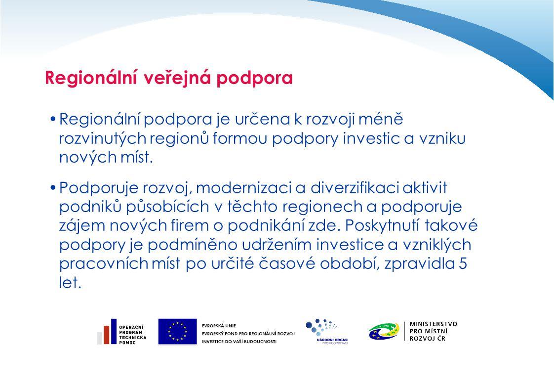 Regionální veřejná podpora