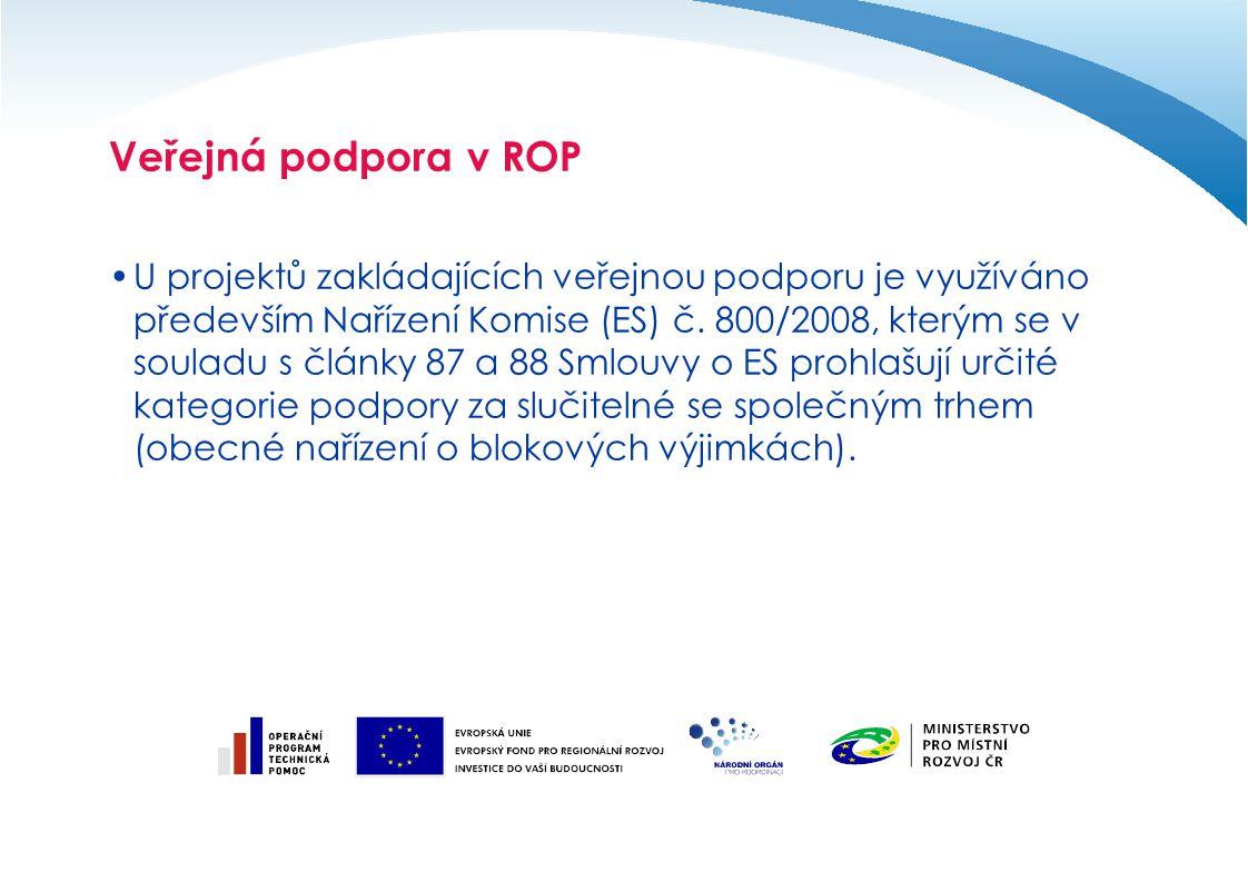 Veřejná podpora v ROP