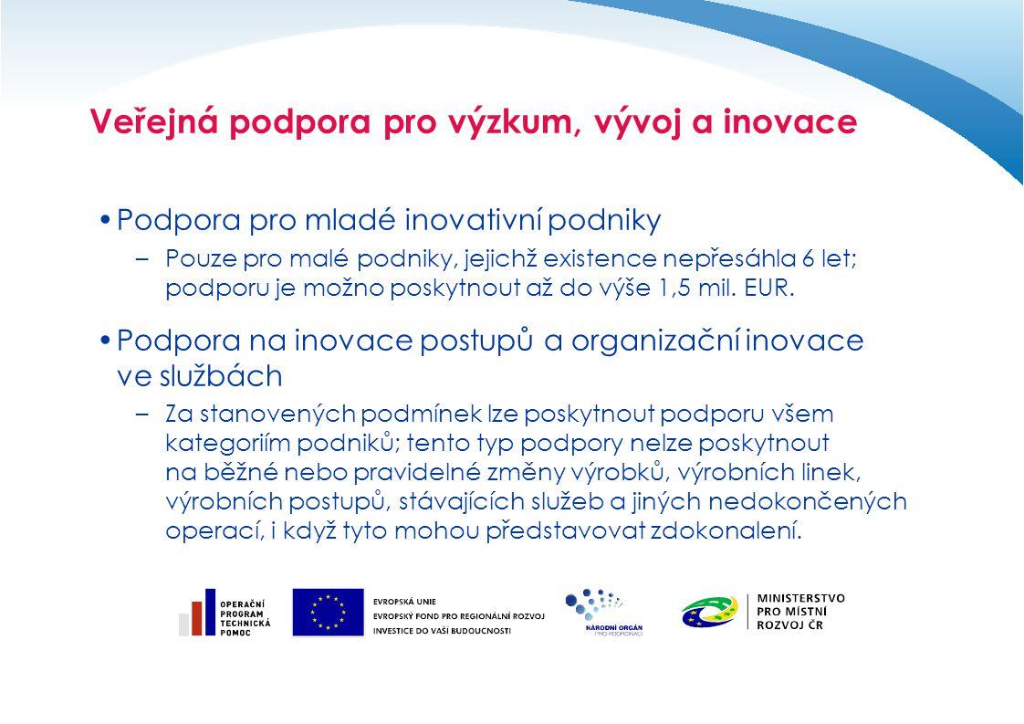 Veřejná podpora pro výzkum, vývoj a inovace