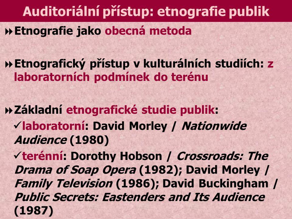 Auditoriální přístup: etnografie publik