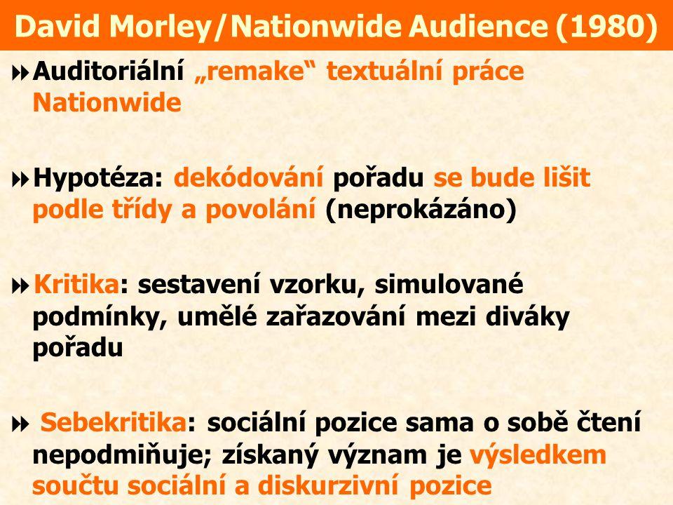 David Morley/Nationwide Audience (1980)