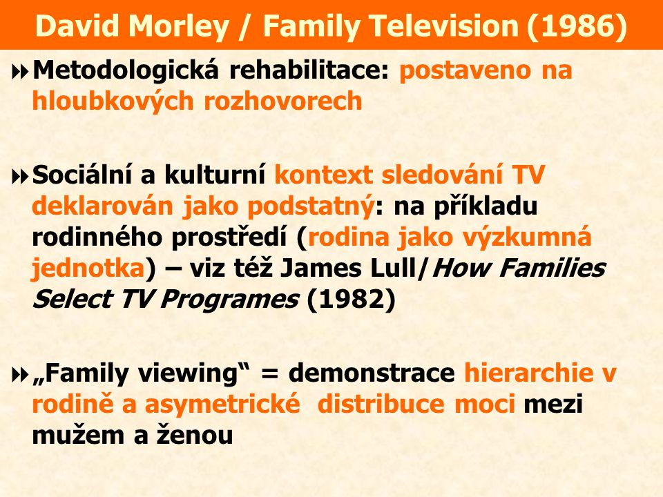 David Morley / Family Television (1986)