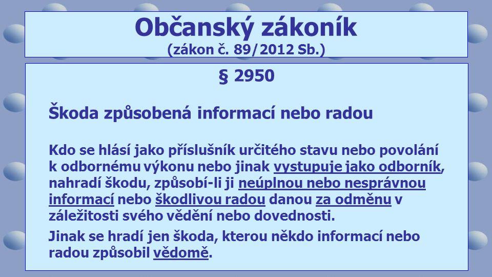 Občanský zákoník (zákon č. 89/2012 Sb.)
