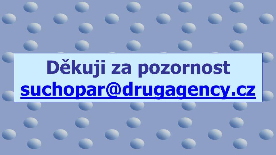 Děkuji za pozornost suchopar@drugagency.cz