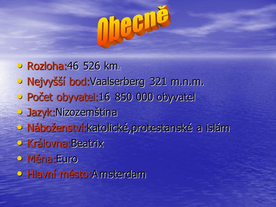 Obecně Rozloha:46 526 km2 Nejvyšší bod:Vaalserberg 321 m.n.m.