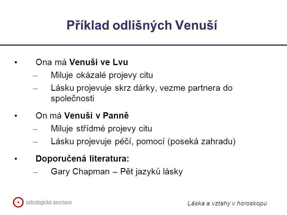 Příklad odlišných Venuší
