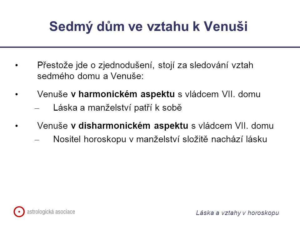 Sedmý dům ve vztahu k Venuši