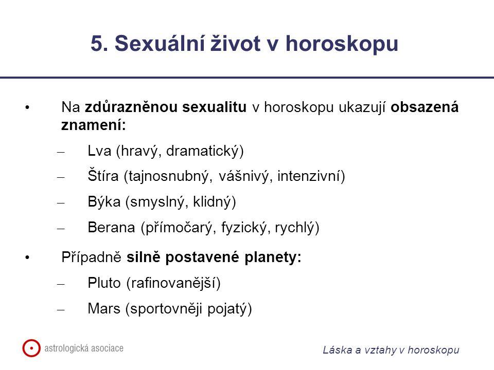 5. Sexuální život v horoskopu
