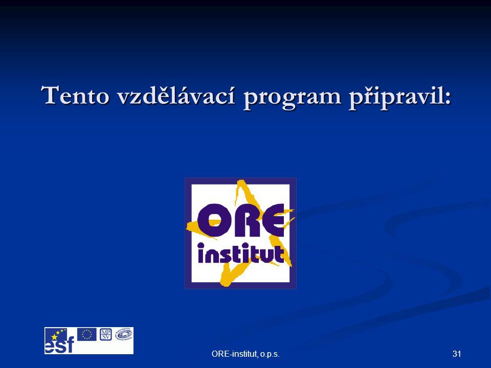 Tento vzdělávací program připravil: