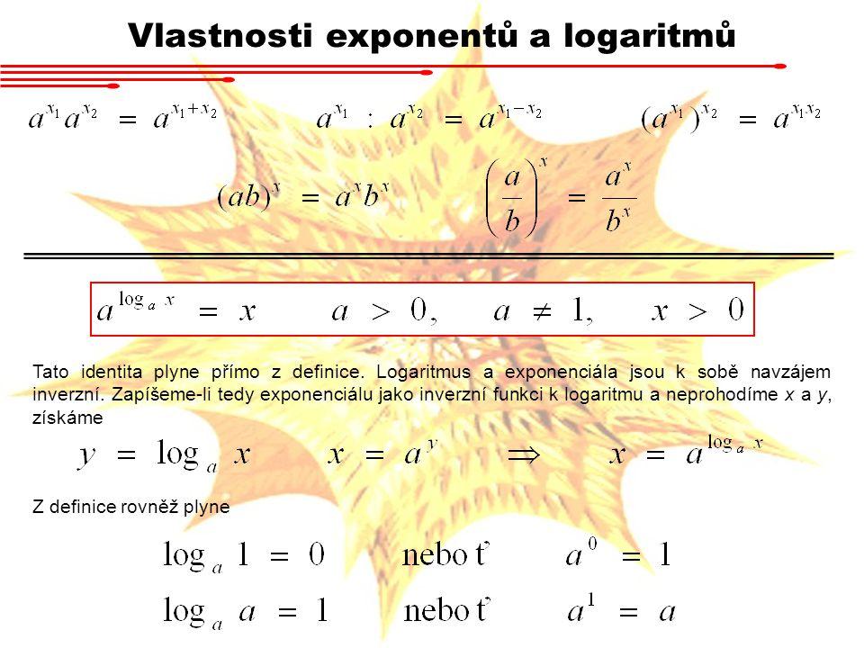 Vlastnosti exponentů a logaritmů