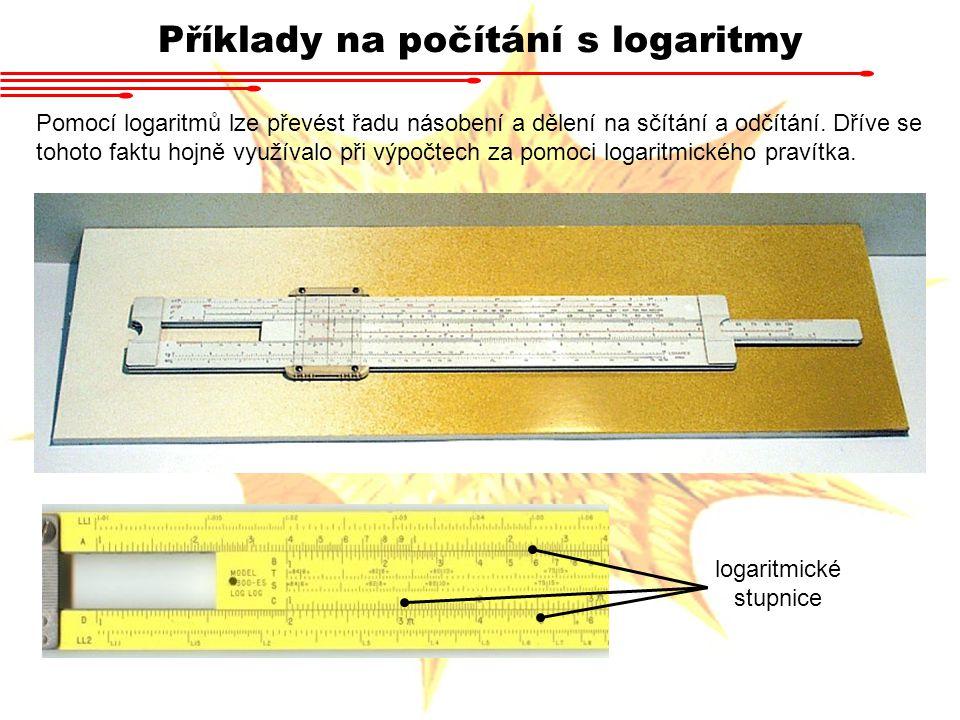 Příklady na počítání s logaritmy