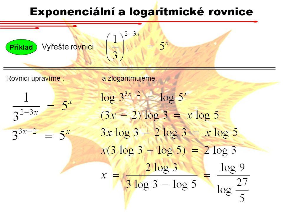 Exponenciální a logaritmické rovnice