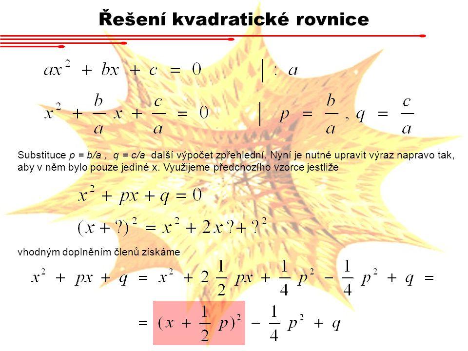 Řešení kvadratické rovnice