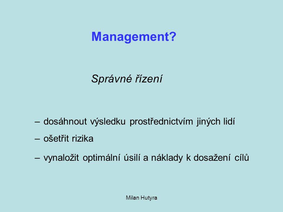Management Správné řízení