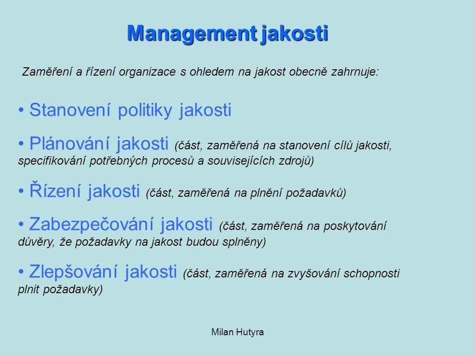 Management jakosti Stanovení politiky jakosti