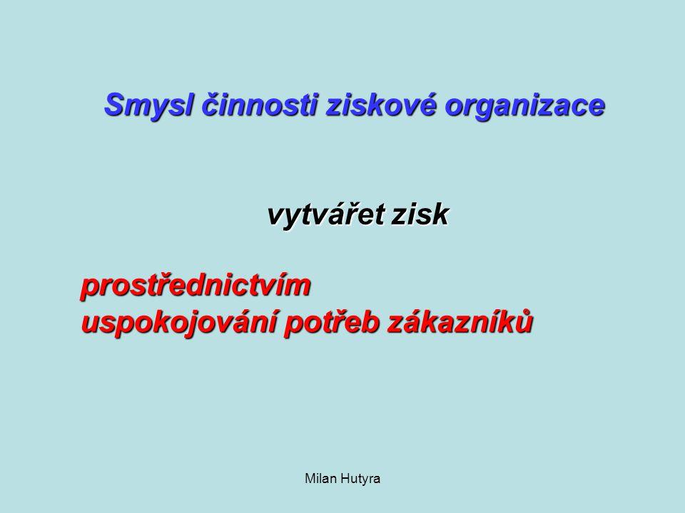 Smysl činnosti ziskové organizace vytvářet zisk