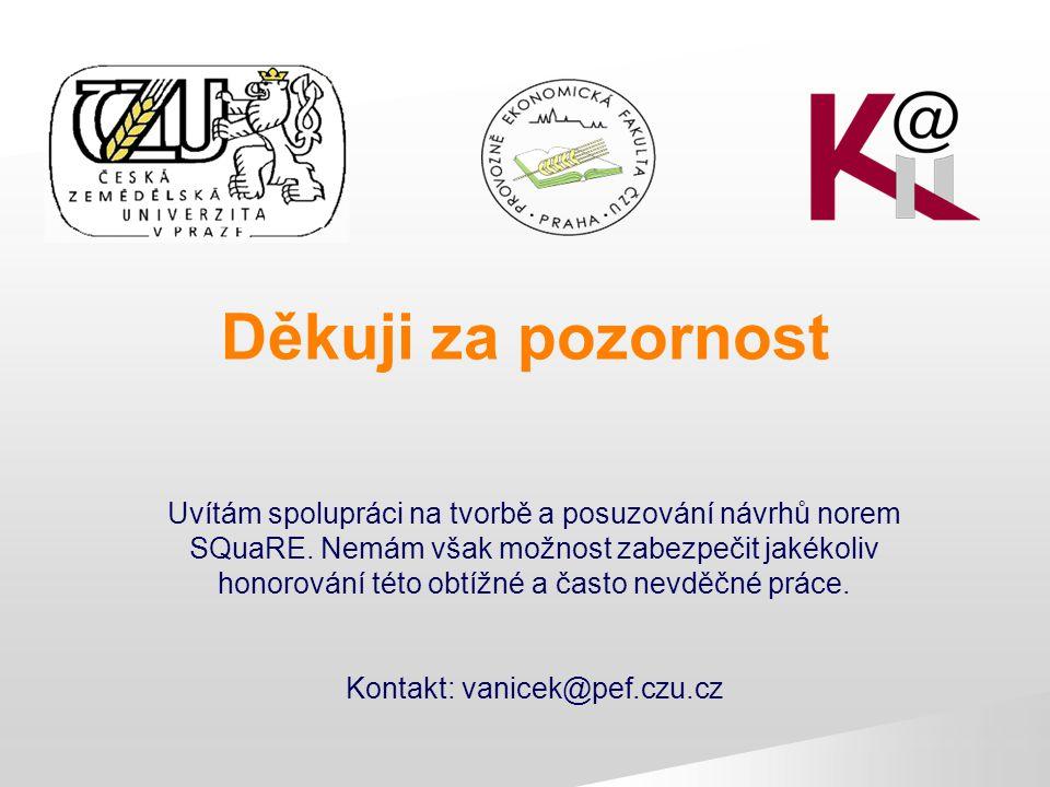 Kontakt: vanicek@pef.czu.cz