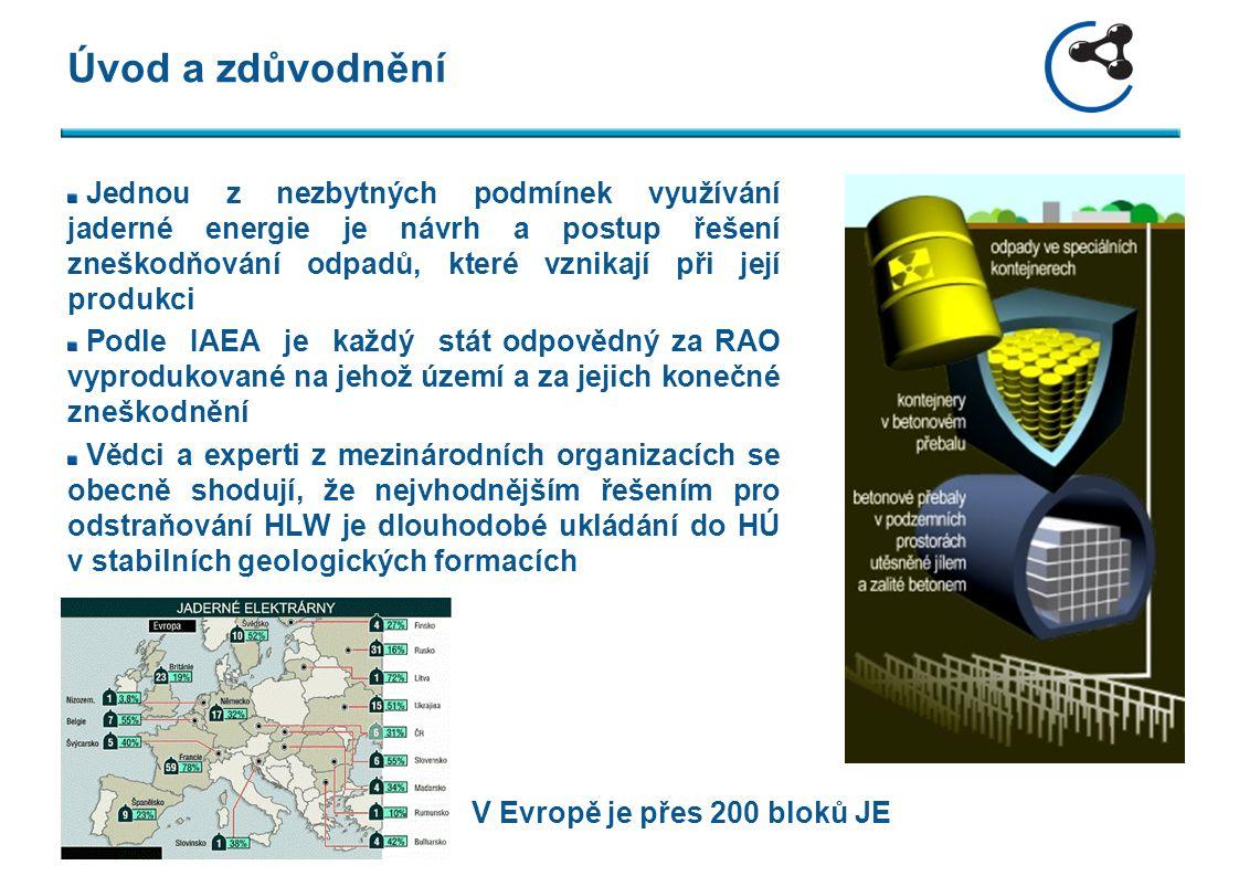 Koncept Hloubka: 500 až 1200 m Geologie: neporušený masiv