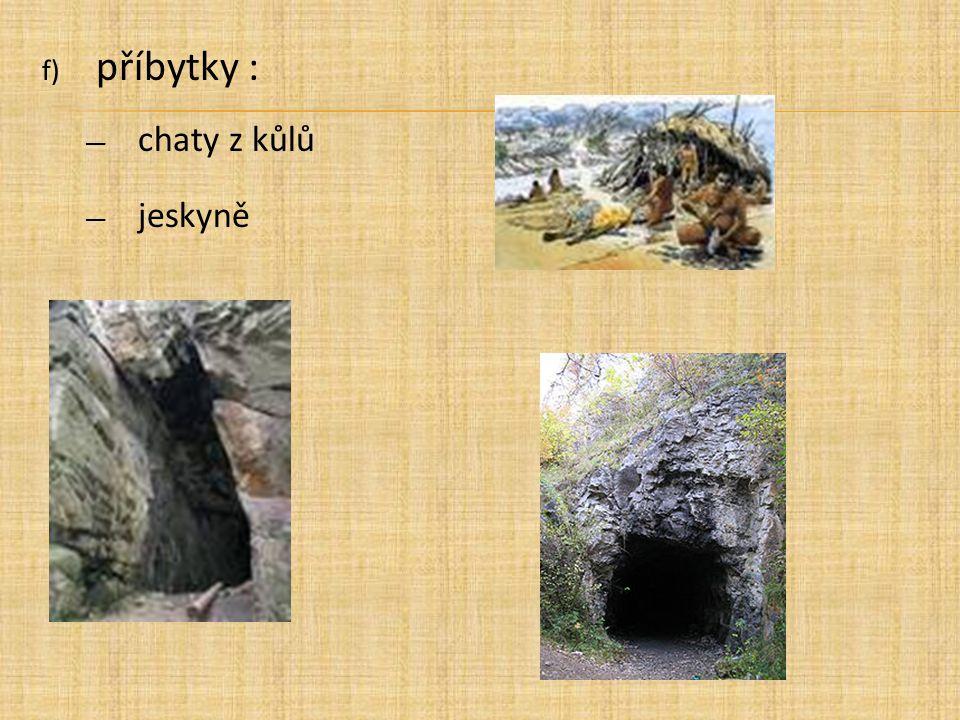 příbytky : chaty z kůlů jeskyně