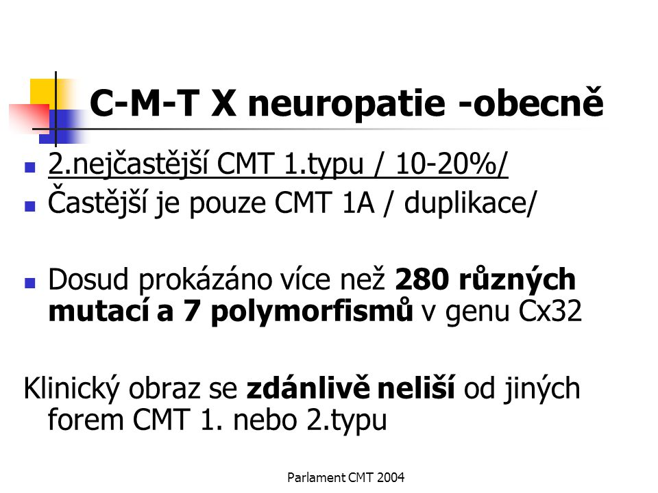 C-M-T X neuropatie -obecně