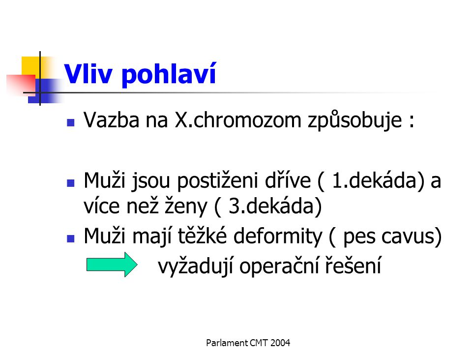 Vliv pohlaví Vazba na X.chromozom způsobuje :
