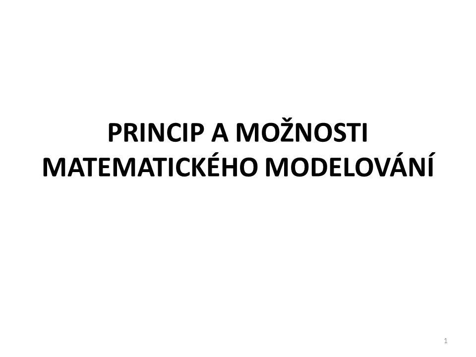 Princip a možnosti matematického modelování