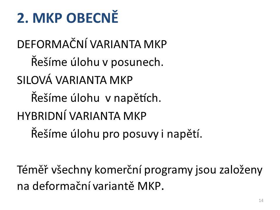 2. MKP OBECNĚ