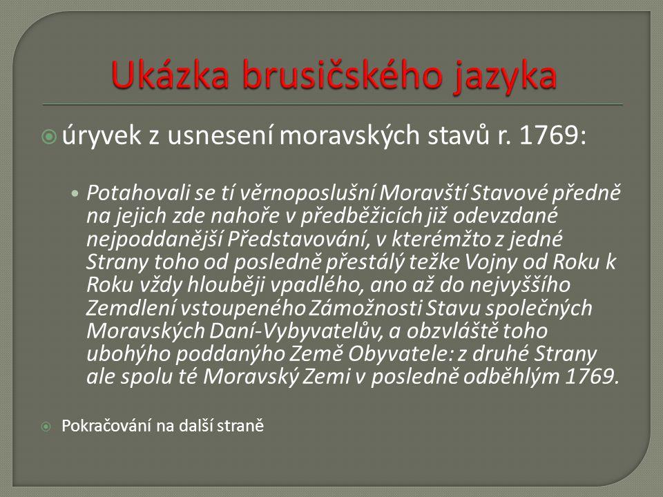 Ukázka brusičského jazyka